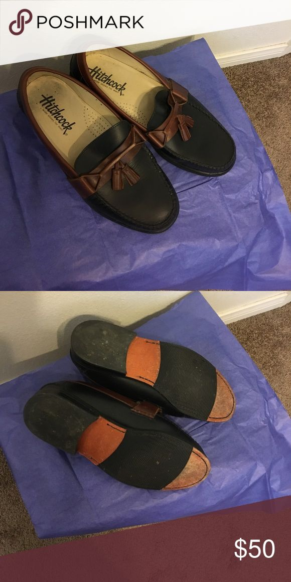 Men's XTRA WIDE Dress Loafers Two/tone Brown with Tassels ! Hitchcock wide shoes for men Shoes Loafers & Slip-Ons