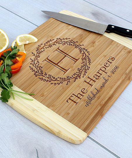 Etchey Wreath Emblem Personalized Cheese Board | zulily