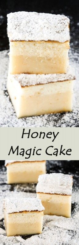 Honey Magic Cake One batter and after baking you get a layered-cake. The famous magic cake but with a twist - Honey (English version included)