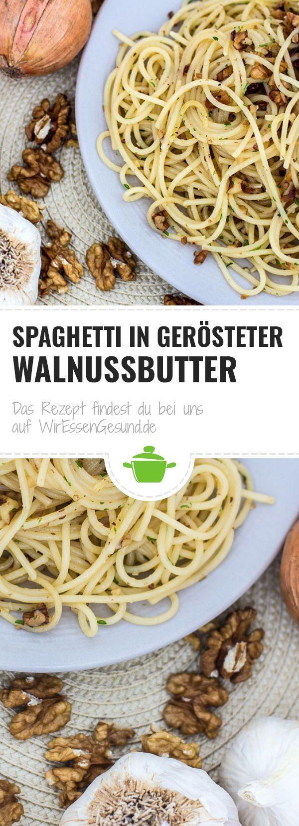 Spaghetti in gerösteter Walnussbutter
