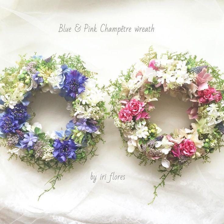 #ナチュラルリース #ペアリース #リースブーケ #アーティフィシャルフラワー #造花 #リース #ペアリース #ナチュラル #ピンク #ブルー #贈呈品 #フラワーギフト #記念日 #写真立て #ウェディング #結婚式 #新築祝い #ウェルカムスペース #結婚祝い #野花 #両親へのプレゼント #ウェルカムボード