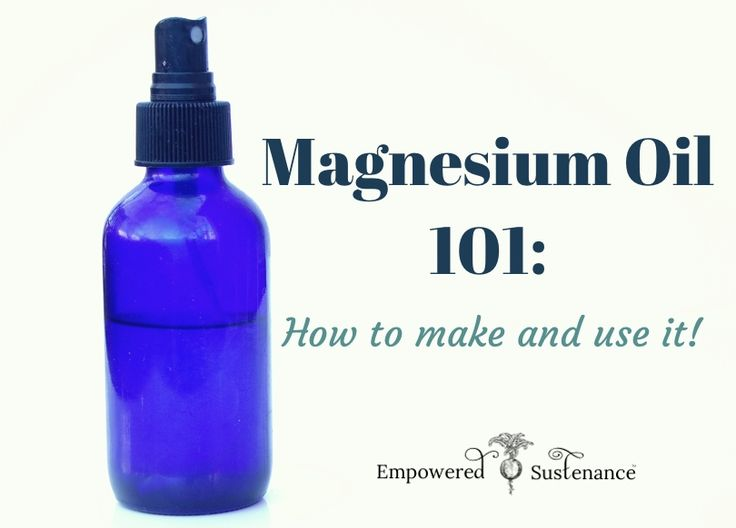 magnesium oil facial
