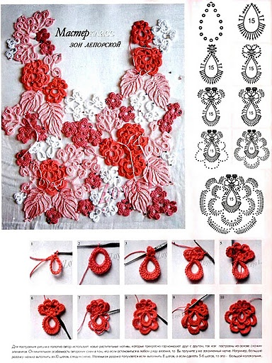 Crochet Irish Lace Motifs - Chart some of these would make great earrings