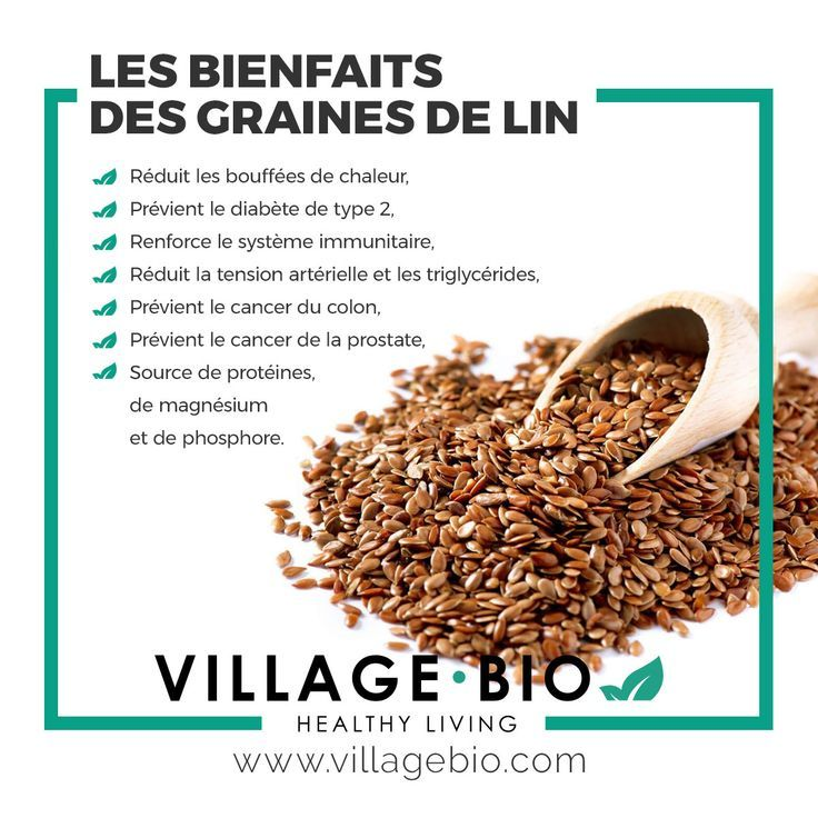 Les bienfaits des GRAINES DE LIN   Bienfaits des graines ...