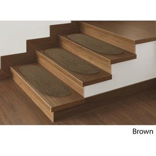 Best Softy Solid Design Non Slip Oval Stair Treads Set Of 7 400 x 300