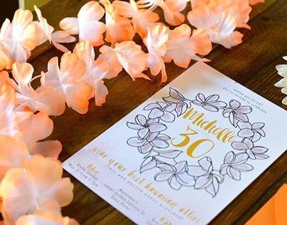 Luau Invitation  Summer luau hawaiian invitation  watercolor and hand drawn flowers!    www.lobographicdesign.com