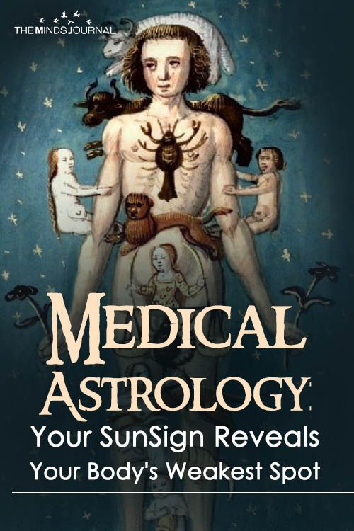Medical Astrology: Your SunSign Reveals Your Body's Weakest Spot? - https://themindsjournal.com/medical-astrology-bodys-weak-spot/