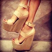 Attractive Cut-Outs Wedge Sandals