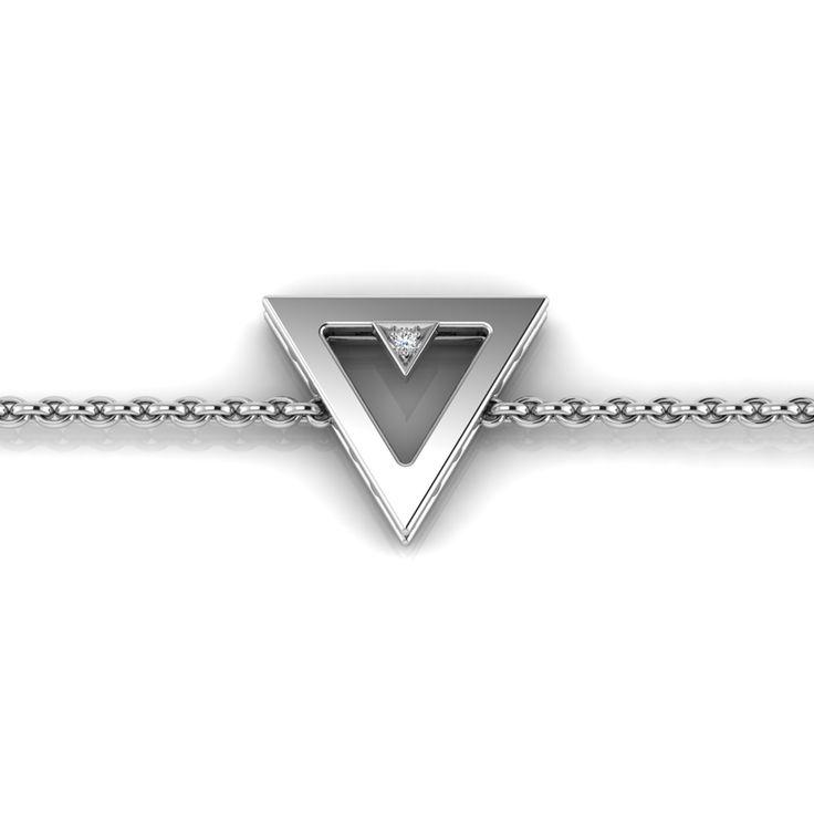 Silver Diamond Bracelet. R1000 Product Code- WW00010