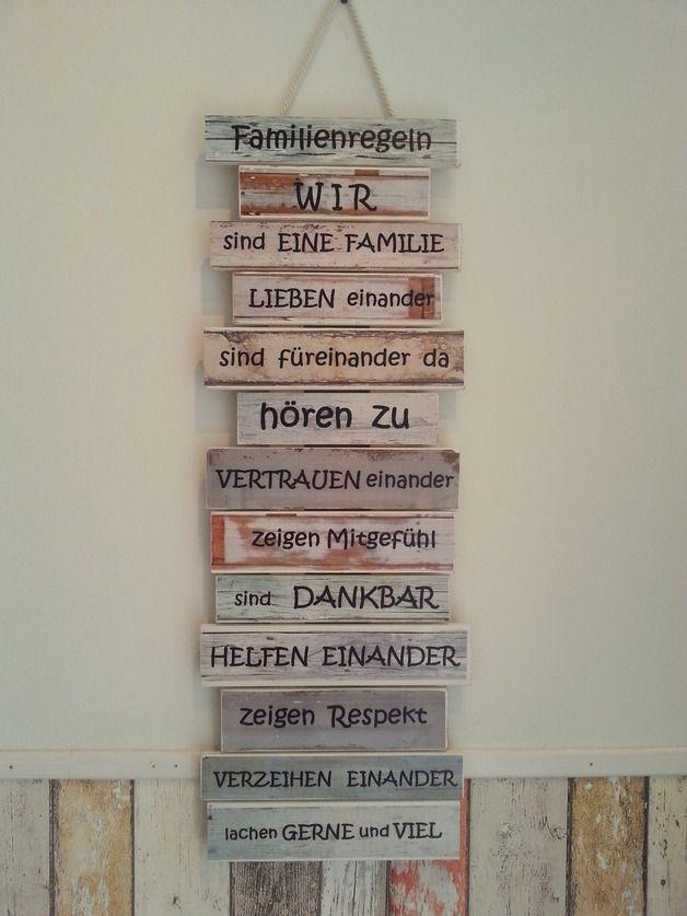 Wanddeko - Familienregeln - Klassenregeln ...