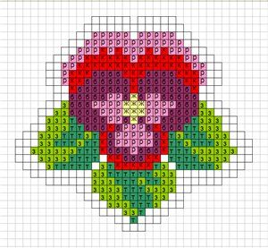 Flower hama perler beads pattern