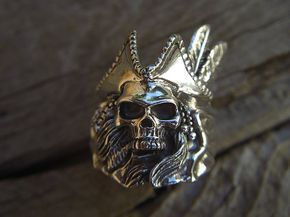 ON SALE Pirate skull ring in sterling silver