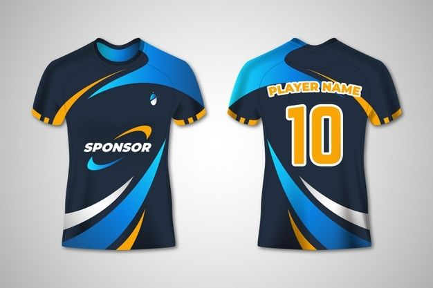 Download T Shirt Sport Design For Women Soccer Jersey For Football Club Polo Uniform Template Premium Vector Sport Shirt Design Sports Jersey Design Soccer Jersey