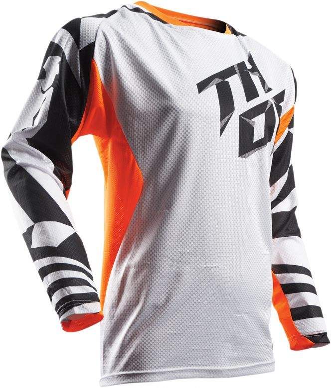 Download Thor Fuse Air Dazz 3d Hex Weave Minimal Maximized Hybrid Raglan Sleeve Back Venting Three Quarter C Jersey Design American Fighter Shirts White Jersey