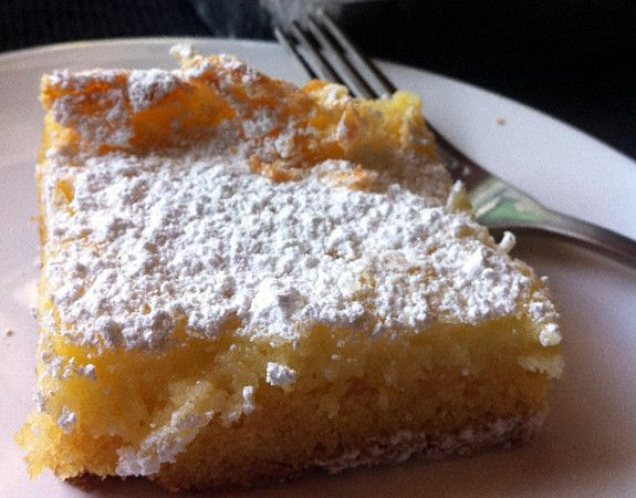 Old Fashion St. Louis Gooey Butter Cake - more like a breakfast pastry, with a yeast dough base and buttery sugar dough on top.
