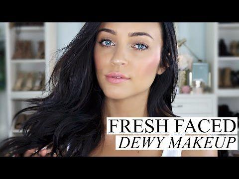 (124) FRESH FACED DEWY MAKEUP TUTORIAL | Stephanie Ledda - YouTube