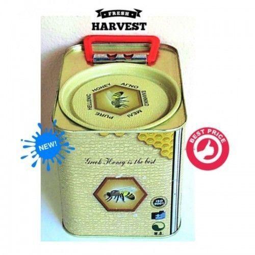 Wild Herbs & Thyme Raw Honey Canister from Crete Island 1800gr NEW HARVEST HONEY #CreteHoney