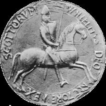 "William the Lion (Mediaeval Gaelic: Uilliam mac Eanric; Modern Gaelic: Uilleam mac Eanraig), sometimes styled William I, also known by the nickname Garbh, ""the Rough"",[1] (c 1143 – 4 December 1214) reigned as King of the Scots from 1165 to 1214. His reign was the second longest in Scottish history before the Act of Union with England in 1707."