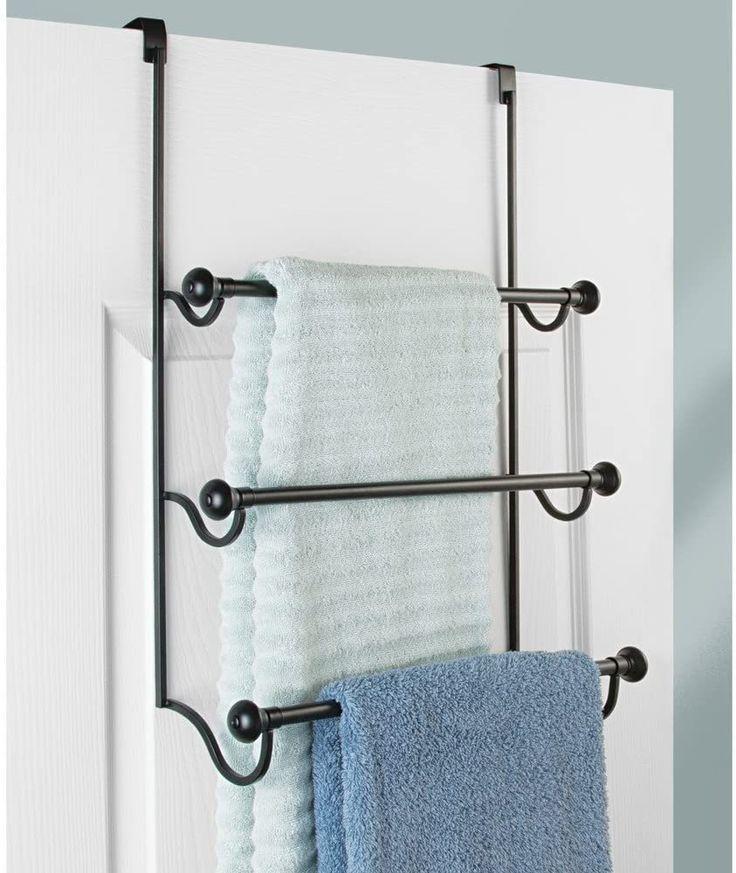 Amazon Interdesign タオル掛け ドアハンガー タオルバー キッチン 3段 York ホワイト クロム 73410ej キッチン用 タオルかけ フック オンライン通販 Shower Doors Towel Rack Towel