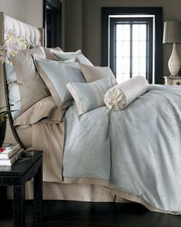 """""""Celeste"""" Bed Linens  - traditional - bedding - by Neiman Marcus"""
