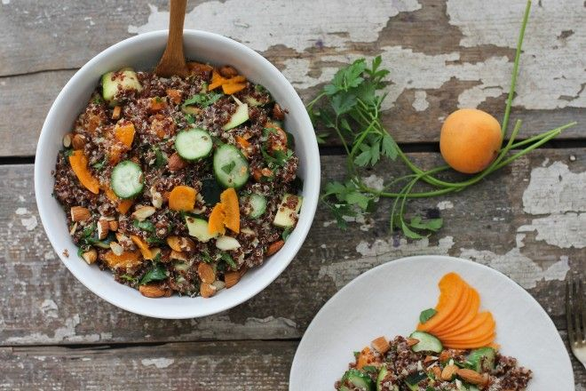 Nutrition Stripped | Apricot Quinoa Summer Salad | http://nutritionstripped.com/apricot-quinoa-summer-salad/