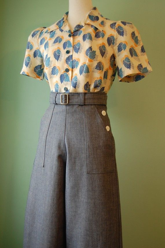 1940s style shirt and pants.