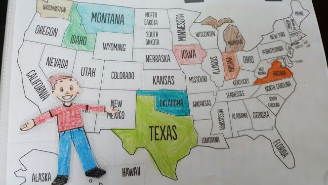 As Flat Stanley or Stacey come back we color in the state they visited                                                                                                                                                     More
