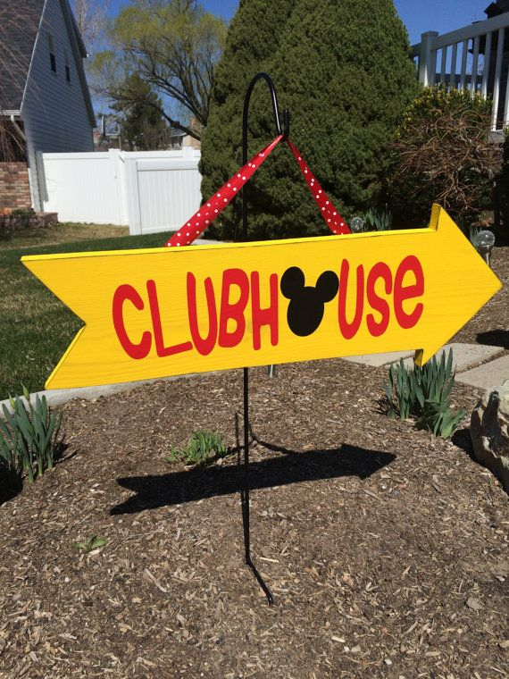 Mickey Mouse Clubhouse Arrow Birthday Party por WickedWoodwork