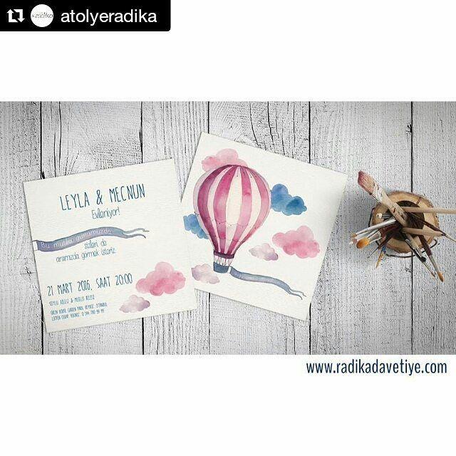 #Repost @atolyeradika with @repostapp  Yaklaşan düğün sezonuna biz hazırız ya siz? #düğün #davet #davetiye #evleniyoruz #nişan #nikah #gelin #damat #balon #uçanbalon #pembe #hayaller by seydasoylu