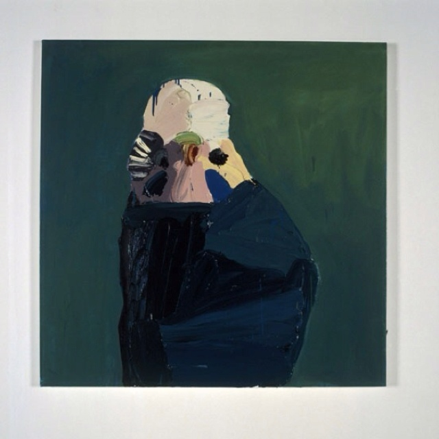 """Ben Quilty """"Budgie"""" the use of blues and green tones in the background and foreground that are so similar creates a surprisingly striking image."""