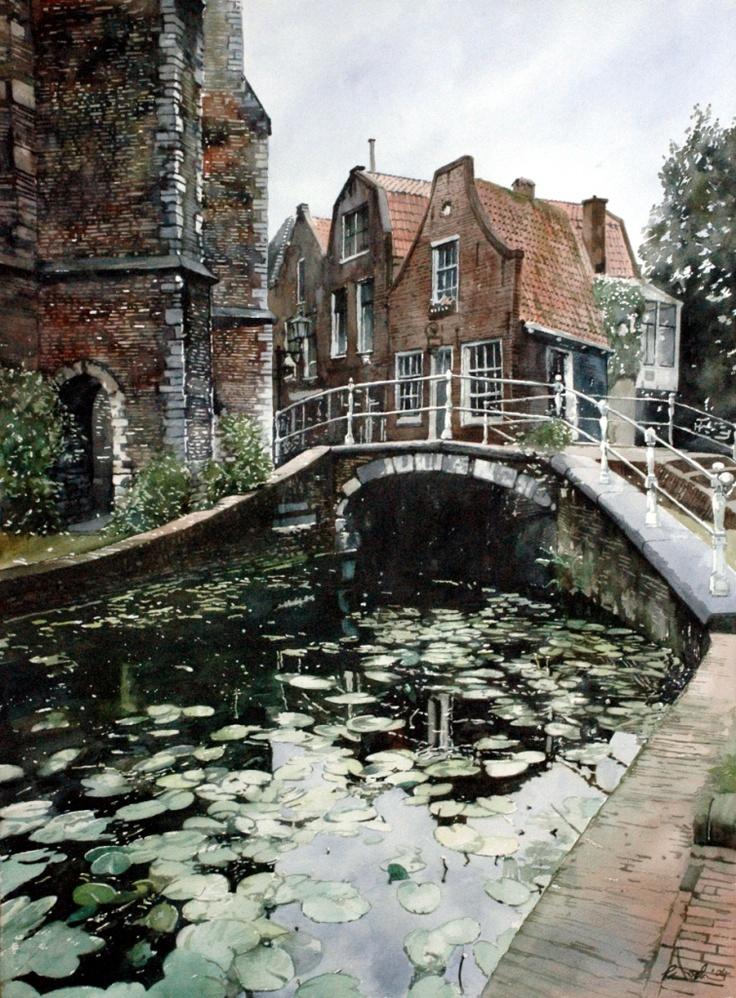 Vrouwenregt, Delft by Paul Dmoch