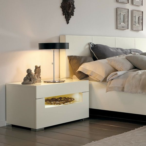 Moderne Nachttische Weiß Elegant
