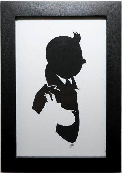 """Résultat de recherche d'images pour """"tintin silhouette"""""""