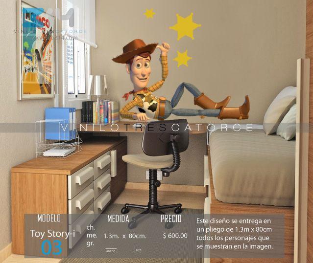 Vinilo 3 14 vinilos decorativos infantiles toy story for Calcomanias para pared infantiles