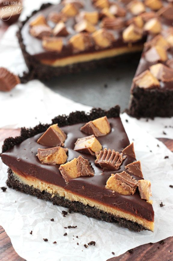 Layers of Oreos, peanut butter, chocolate ganache, and crumbled Reese's ensures your chocolate/peanut butter craving is totally satisfied. Get the recipe from Life, Love, and Sugar. - Delish.com