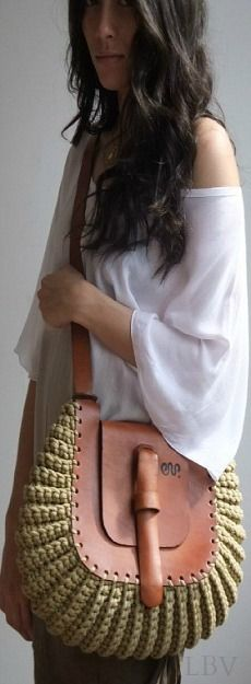 Unique knitted handbag | LBV A14 ♥✤