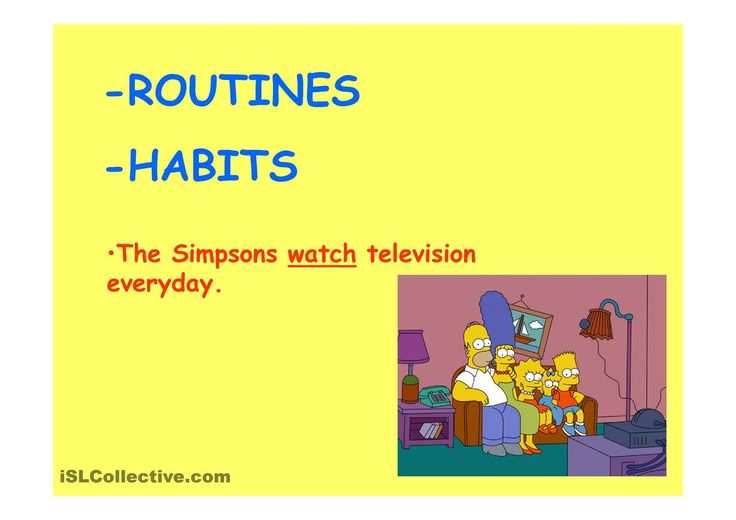 Present Simple with The Simpsons (Elementary)