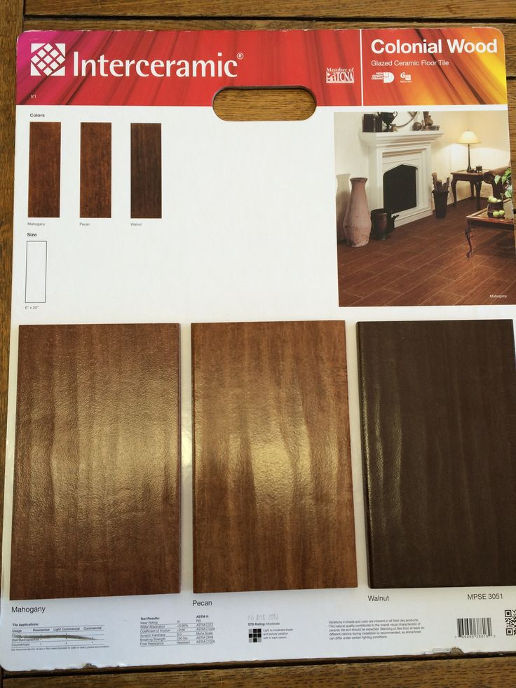 Walnut Is Our Color Interceramic Colonial Wood Tile