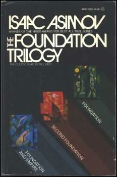 The Foundation Trilogy by Isaac Asimov.  Classic Sci-Fi, slightly esoteric, but contains some very interesting ideas.