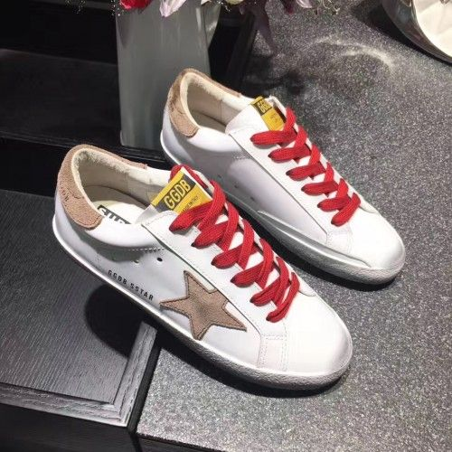 Scarpe Sconto 2017 Golden Goose GGDB SuperStar Bianca Rosso Giallo Uomo Sneakers Outlet
