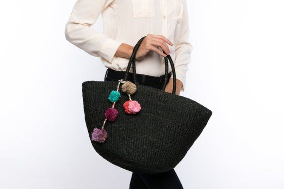 Truly Vegan Foldable Bag Straw tote sac à main vegan Handcrafted raffia Summer Beach Bag Packs flat