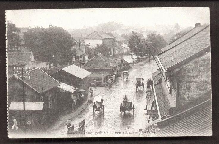Picture of Batavia Chinatown on the rain - Java Indonesia ca 1915