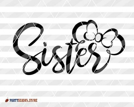 Sister svg design for shirts Minnie Mouse bow clipart