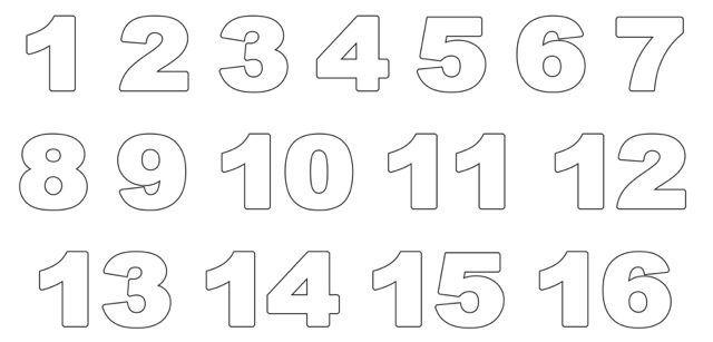 Ausmalbilder Zahlen 1 20 E1538568306708 Printables Prints Activities Illustration Artwo Zahlen Zum Ausmalen Buchstaben Vorlagen Zum Ausdrucken Ausdrucken