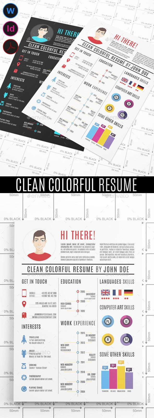 Colorful graphic design resume | Resume | Pinterest | Graphic ...