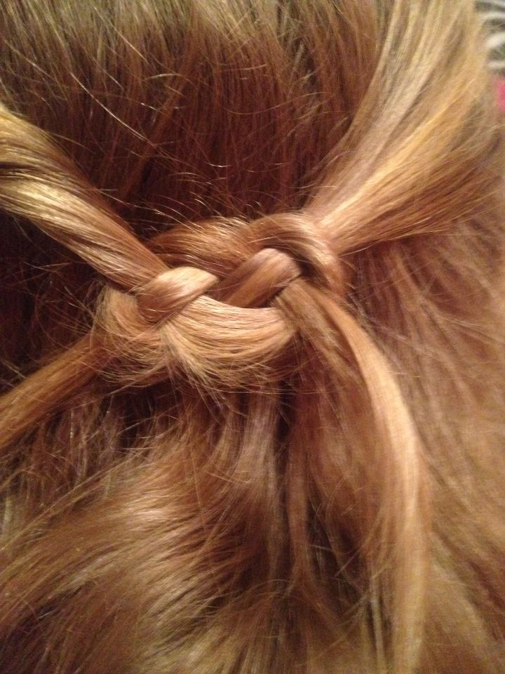 Infinity Knot. Cute but a little difficult
