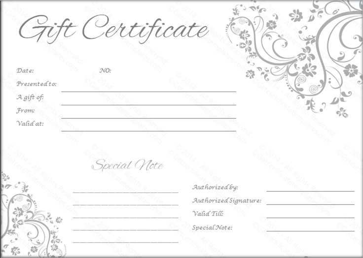 25+ unique Free gift certificate template ideas on Pinterest - certificate template blank