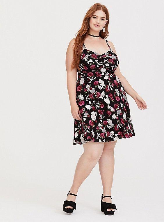 Plus Size Disney Beauty & the Beast Sweetheart Skater Dress, MULTI ...