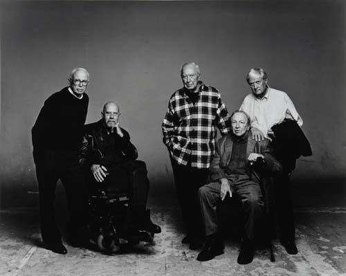 Irving Penn, Portrait of Ellsworth Kelly, Chuck Close, Jasper Johns, Robert Rauschenberg, and Kenneth Noland