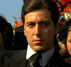 At the his father Don Corleone's funeral As Tessio sets him up to meet with the heads of the other families and betrays him.